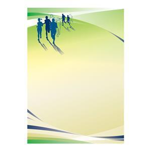 Dekoratyvinis popierius DYPLOMY RUNNING A4, 25 lapai/pak., 170 g/m2