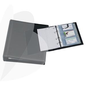 business card binder a5 rillstab black 60 business cards a5 - Business Card Binder