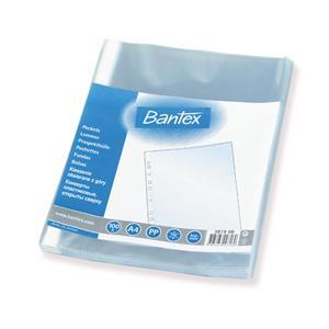 Įmautė dokumentams BANTEX, A4, 40 mikr., (pak. -100 vnt.), skaidri