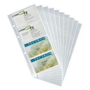 Papildomi lapai vizitinių kortelių albumui DURABLE VISIFIX, (pak. -10 vnt.)
