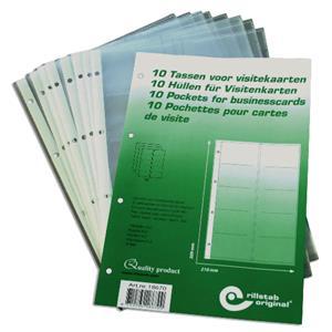 Papildomi lapai vizitinių kortelių albumams RILLSTAB, A4, (pak. -10 vnt.)