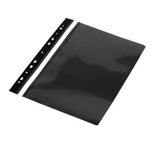 Aplankas su įsegėle ir europerforacija PANTA PLAST, A4, matinis viršelis, (pak. -10 vnt.), juodas