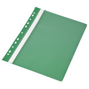 Aplankas su įsegėle ir europerforacija PANTA PLAST, A4, skaidrus viršelis, (pak. -10 vnt.), žalias