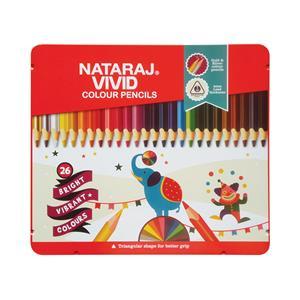 Spalvoti pieštukai, tribriauniai, NATARAJ Vivid, 26 spalvos
