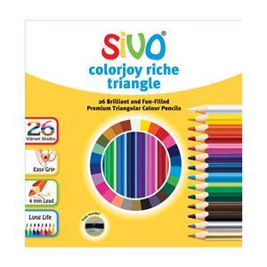 Spalvoti pieštukai, tribriauniai, SIVO Colourjoy Riche, 26 spalvos 601256002