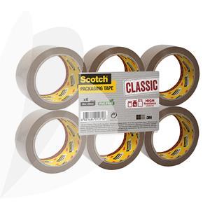 Pakavimo juosta SCOTCH CLASSIC, 50 mm x 66 m, ruda, 6 vnt./pak.