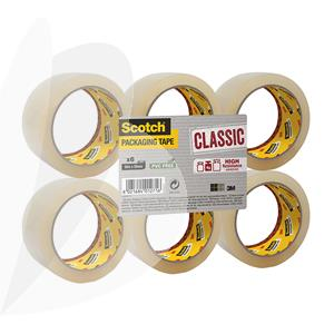 Pakavimo juosta SCOTCH CLASSIC, 50 mm x 66 m, skaidri, 6 vnt./pak.