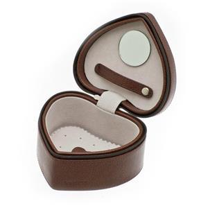 Papuošalų dėžutė DAVIDTS EUCLIDE heart, ruda sp.