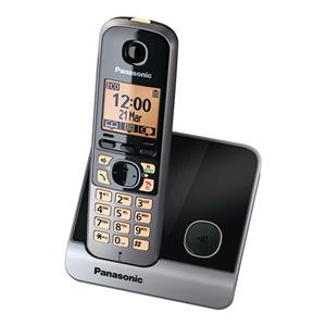 Belaidis telefonas PANASONIC KX-TG6711FXB su DECT funkcija, Juodas