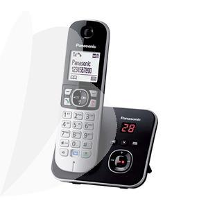 Belaidis telefonas PANASONIC KX-TG6821FXB su atsakikliu ir DECT