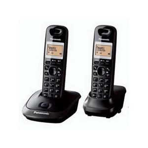 Belaidis telefonas PANASONIC KX-TG2512FXT, du rageliai, juodas