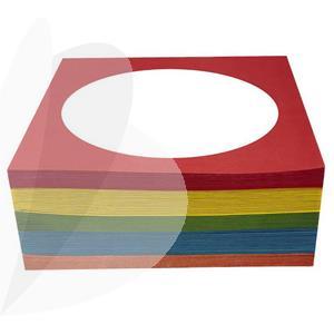 CD/DVD popieriniai vokai su langeliu, 100 vnt., spalvoti
