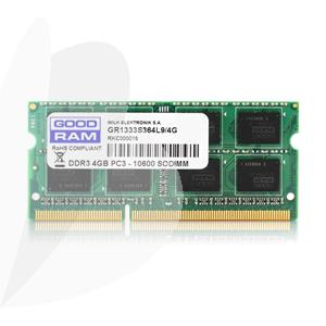 Kompiuterio operatyvinė atmintis (RAM) GOODRAM SODIMM DDR3 1,35V PC3-12800, 4 GB 1600 MHz CL11
