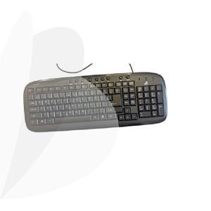 Klaviatūra KM-1008 USB LT/EN, juoda sp.