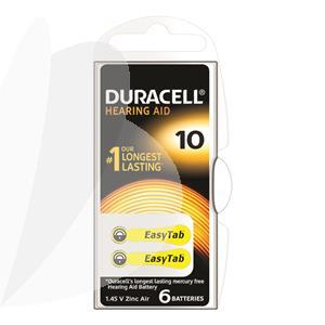 Baterijos klausos aparatui DURACELL 10, 6 vnt.