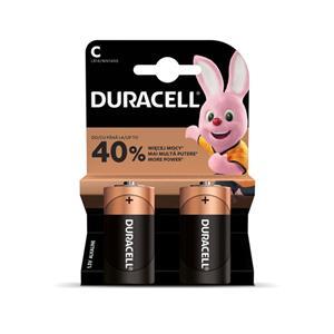 Baterija  DURACELL C, LR14, 2 vnt.
