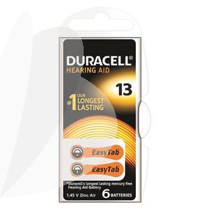 Baterijos klausos aparatui DURACELL 13, 6 vnt.