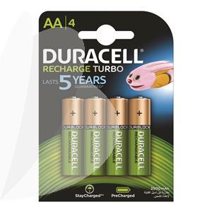 Įkraunamos baterijos DURACELL AA, 2500mAh, 4 vnt.