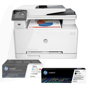 Daugiafunkcinio įrenginio komplektas: HP Color LaserJet Pro MFP M274n + HP 201X HIGH YIELD CF401X + CF402X + CF403X