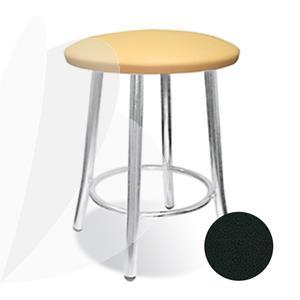 Baro kėdė NOWY STYL TEDDY chrome V-4, juodos sp., odos imitacija
