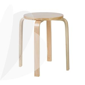 Kėdė taburetė, natūrali medžio sp.