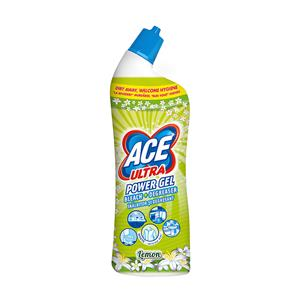 Tualeto valiklis ACE ULTRA POWER GEL LEMON, 750 ml, citrinų aromato