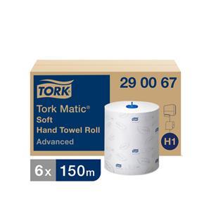 Popieriniai rankšluosčiai TORK ADVANCED H1, 290067,  2 sl., 21 cm x 150 m, balta sp.