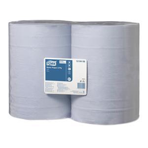 Mėlynas dvisluoksnis popierius TORK, W1, 128408, 2 sl. 36.9cm x 340m