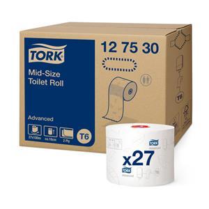 Tualetinis popierius TORK ADVANCED COMPACT T6,127530, 2 sl., 9.9 cm x 100 m, balta sp.