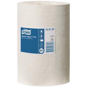 Popieriniai rankšluosčiai TORK Basic, 1 sl., 21,5 cm x 120 m, M1, 120123, balta sp.