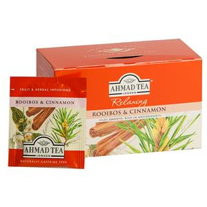 Žolelių arbata AHAMD ROOIBOS & CINNAMON, 20 vokelių po 1,5g