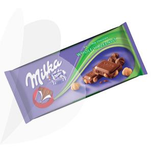 Šokoladas MILKA su lazdyno riešutais, 100g | Officeday
