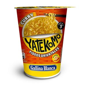 Greitai paruošiami makaronai YATEKOMO, kario skonio, 60 g