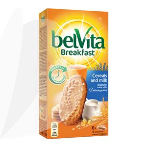 Sausainiai BELVITA, 5 grūdų, pieniški, 300 g