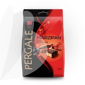 Šokoladiniai saldainiai PERGALĖ MARZIPAN DARK, 225 g
