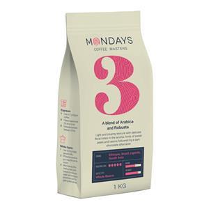 Kavos pupelės MONDAYS Nr.3, Arabica and Robusta, 1 kg
