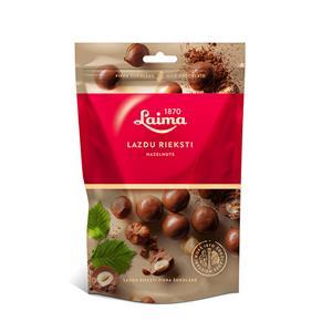 Lazdyno riešutai pieniškame šokolade LAIMA, 140 g
