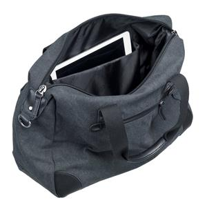 Kelioninis krepšys PIERRE, drobė, pilka/juoda sp.