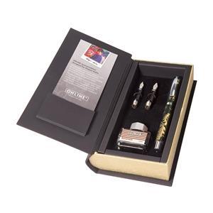 Kaligrafijos rinkinys ONLINE Special Edition, plunksnakotis, 2 plunksnos, rudas rašalas