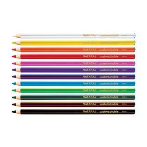Spalvoti akvareliniai pieštukai, NATARAJ, apvalūs, 12 spalvų