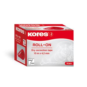 Koreguoklis KORES ROLL ON X-TRA, 4,2 mm x 15 m