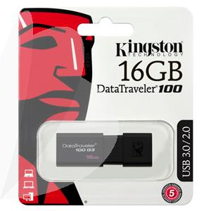 Atmintinė USB 3.0 KINGSTON DT100G3, 16GB