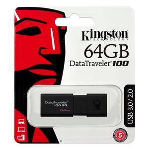 Atmintinė USB 3.0 KINGSTON DT100G3, 64GB