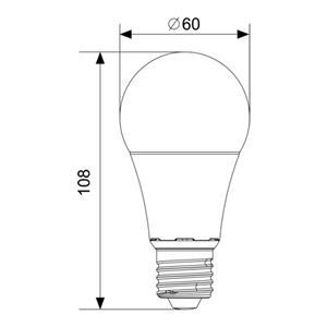 Lemputė LED A60 E27 10W SMD