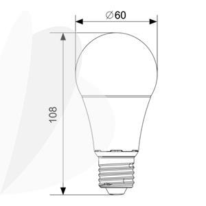 Lemputė LED A60 E27 12W SMD