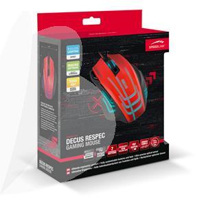 Pelė SPEEDLINK DECUS RESPEC Gaming, juoda/raudona sp.