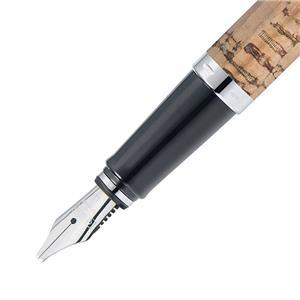 Kaligrafijos rinkinys ONLINE NATURE: plunksnakotis + 2 plunksnos su laikikliu + juodos ir rudos sp. rašalas, kamštinis korpusas