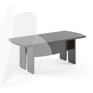 Susitikimų stalas SKYLAND BORN B121, stačiakampis/apvalus, 2000 x 900 x 750 mm