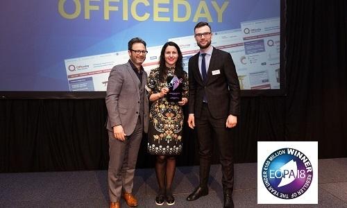 OFFICEDAY įteiktas prestižinis EOPA2018 apdovanojimas