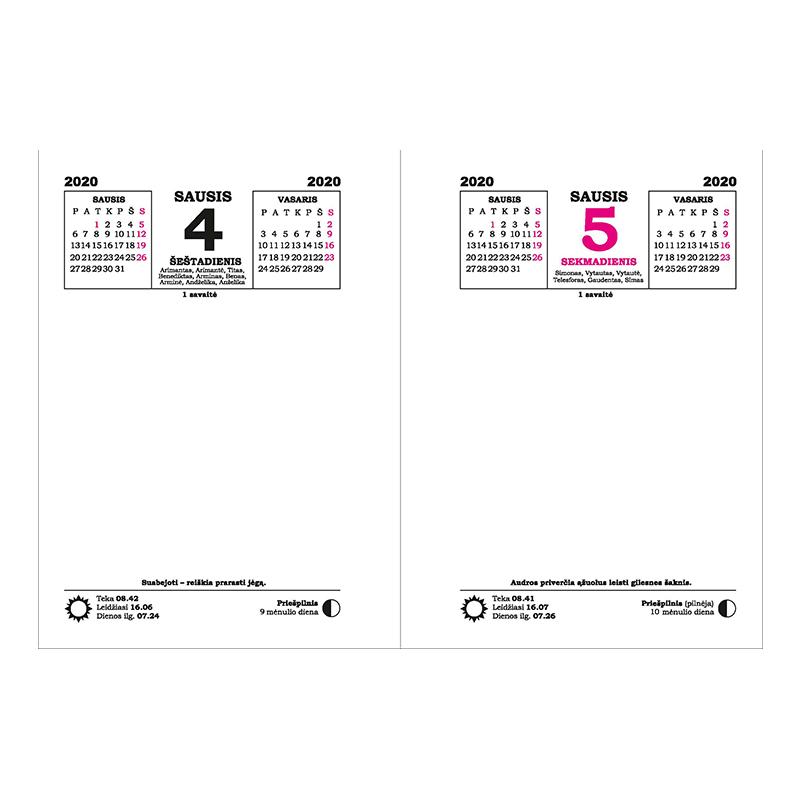 2020 Kalendorius Su Savaitemis.Stalo Kalendorius 2020 Officeday